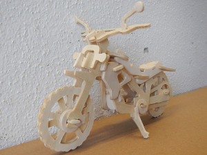 wooden motorcycle puzzle free dxf preview