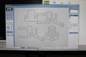 chair outline on badog cad cam solution cad software (dxf 2d puzzle)