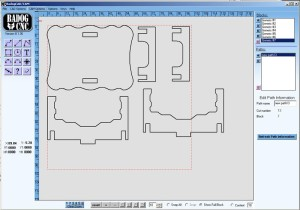 badog software showing the free doll house dxf plans for table