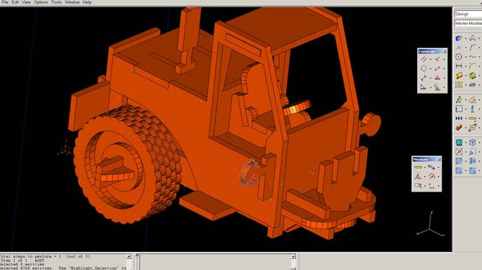 cnc Plans and free dxf of my front end loader jigsaw puzzle