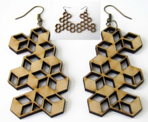 woodworking- earings- cnc machine