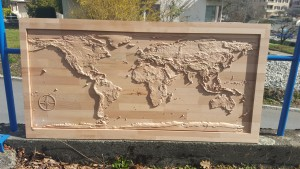 world map nasa sculpture 5
