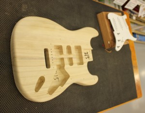 Making guitar with cnc machine
